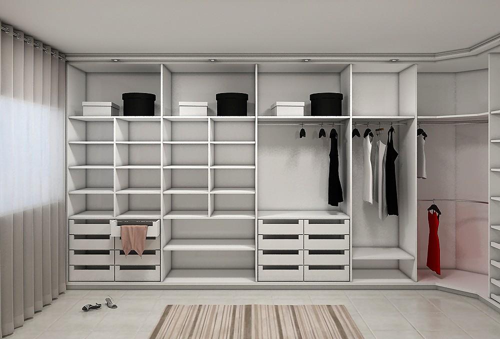 Closet aberto m veis planejados florian polis for Modelos de zapateras para closets